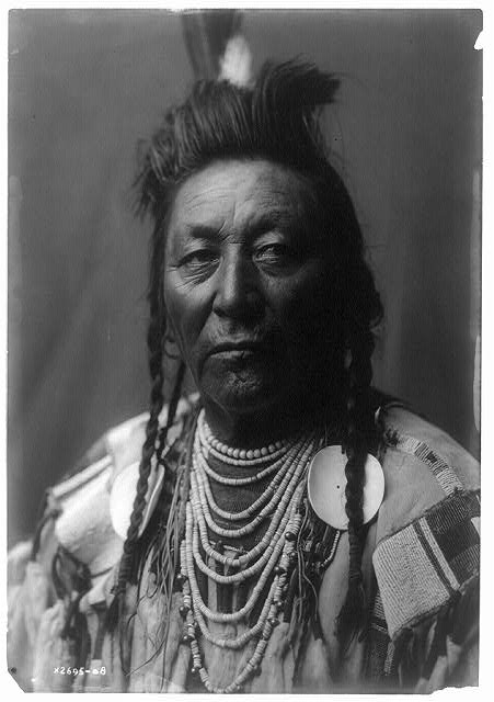 Plenty Coups (Edward Curtis portrait circa 1908 via Wikimedia Commons)