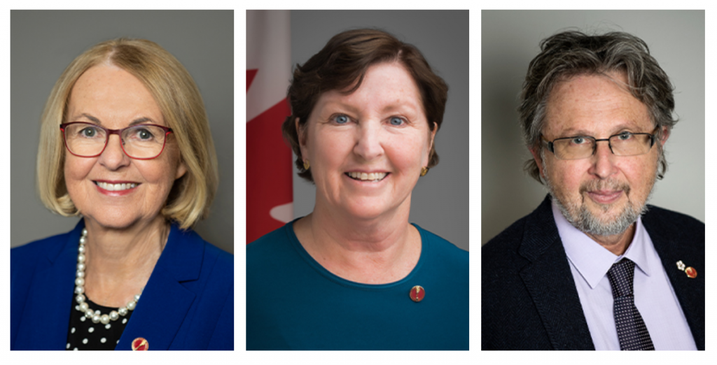 Nova Scotia Senators Jane Cordy, Mary Coyle and Stanley Kutcher