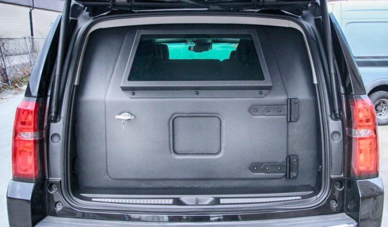 Trunk view, armored Chevy Suburban
