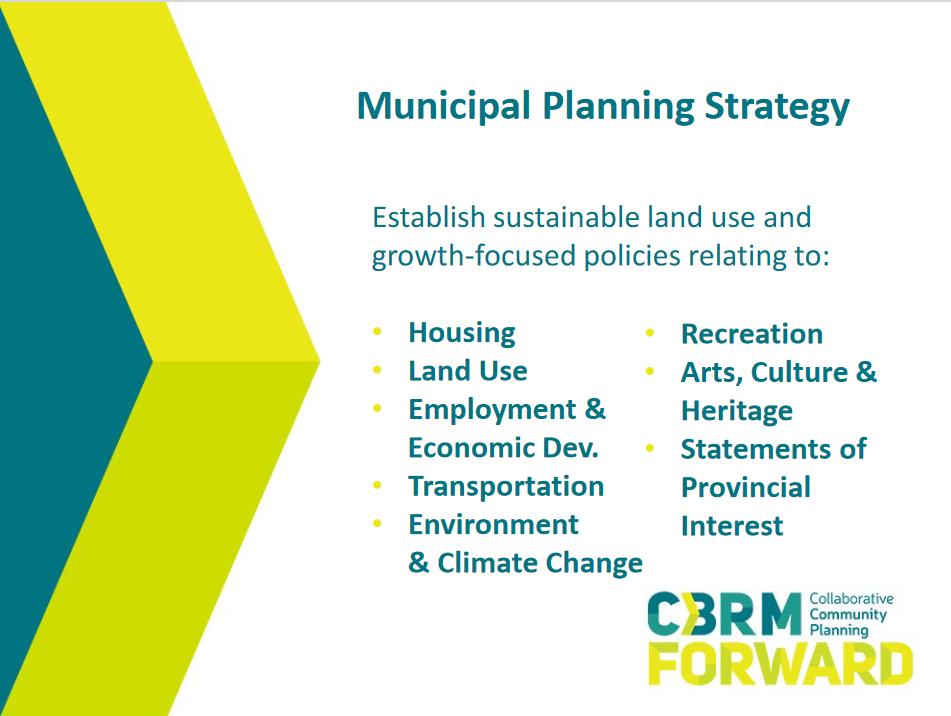 Municipal Planning Strategy, CBRM Forward slide show
