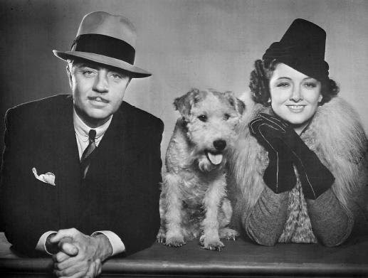 Nick and Nora and their dog, Asta