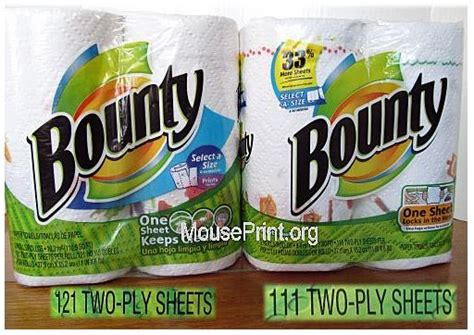 bounty paper towels shrinkflation