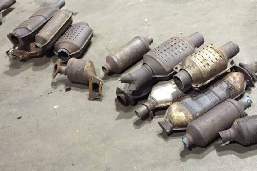 """Post """"contributed"""" photo of catalytic converters"""