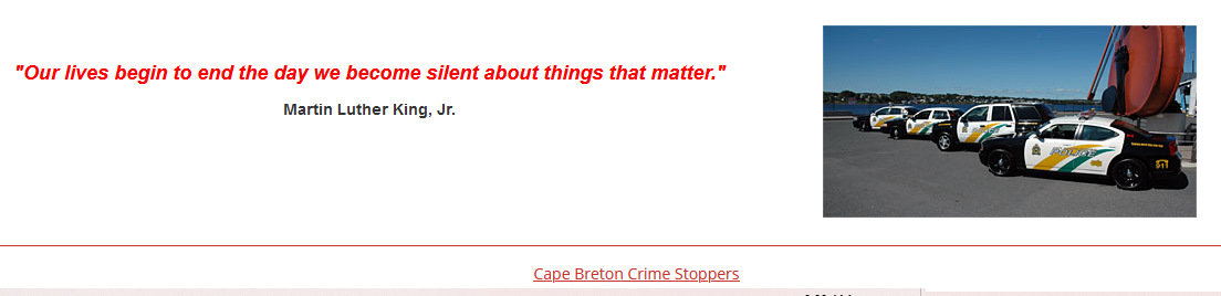 MLK quote on Crime Stoppers web site