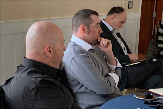 CBRM Councilors Gordon MacDonald, Glenn Paruch, Eldon MacDonald.