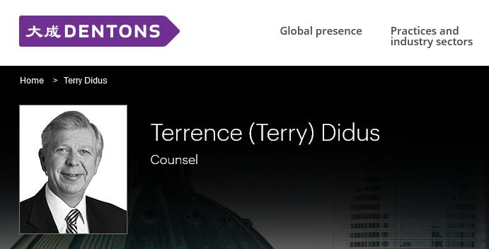 Terry Didus, Dentons