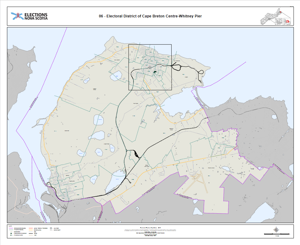 Electoral Map: Cape Breton Centre-Whitney Pier