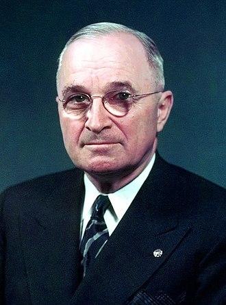 Harry S. Truman, official portrait (cropped)