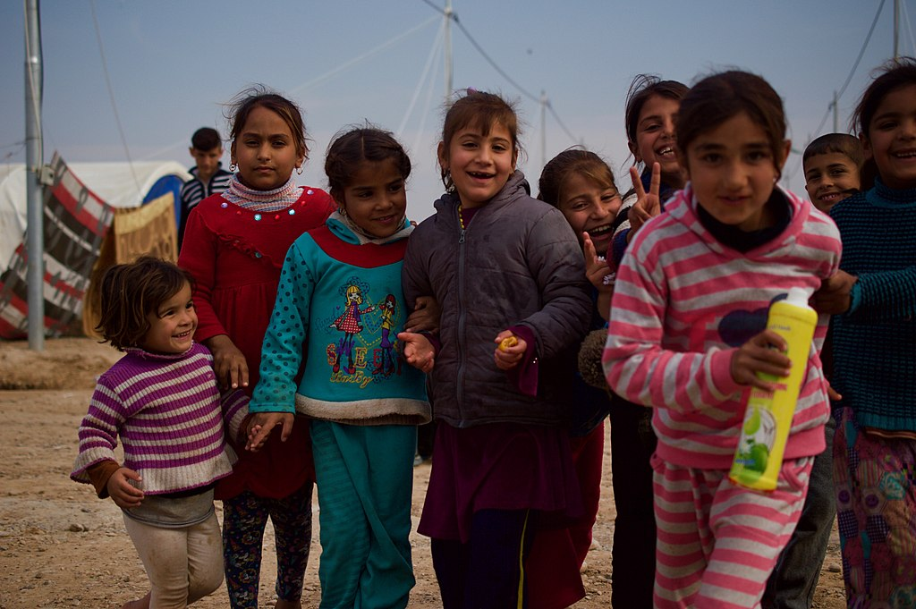 Children in Hassan Sham refugee camp