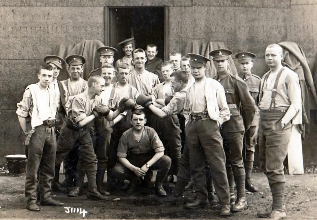 Kings Regiment Liverpool Pals Service Battalion and cadets.