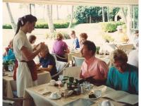 Waitress taking order.  (Photo by