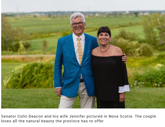 Senator Colin Deacon and wife Jennifer