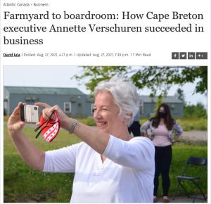 Annette Verschuren in Cape Breton Post
