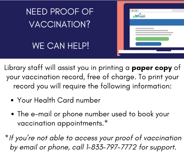 CBRL will print your proof of vaccination