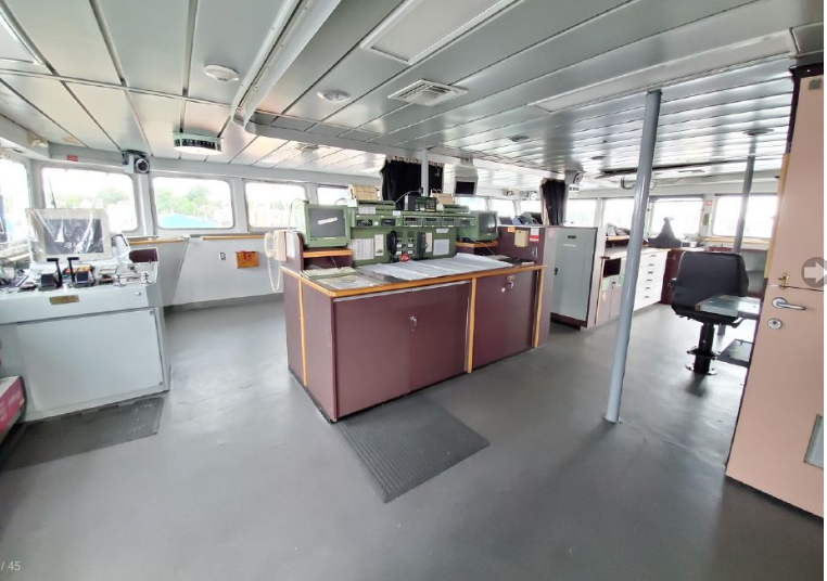 Interior, Miss MJ, formerly the CCGS Matthew