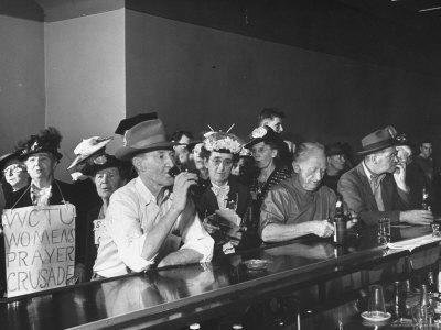 Temperance women in bar.